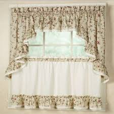 Ruffled Kitchen Curtains Rustic With Cherries Ruffled Kitchen Tier Curtains Country