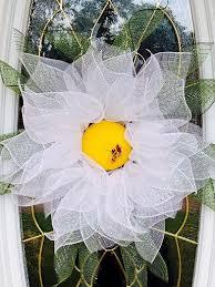 white deco mesh mesh wreath flower mesh wreath deco mesh wreath