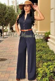wide leg jumpsuits blue belted wide leg jumpsuit