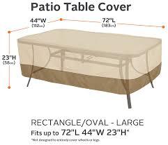 Patio Table Cover Rectangular Classic Accessories Veranda Rectangular Oval Patio