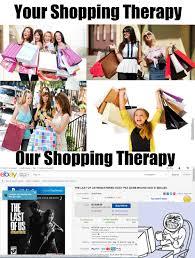 Shopping Meme - shopping men vs women by surrenderedtoanime meme center