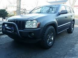 2006 jeep grand cherokee custom matte black paint oversized tires
