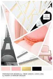 pink gold and black color inspiration board french inspired