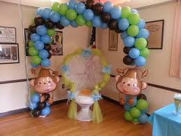 monkey decorations for baby shower monkeys are so for a baby shower this arch 150 00 by the