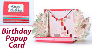 how to make birthday cards easy pop up card youtube