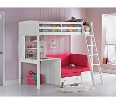 Buy HOME Classic High Sleeper Bed  Sofa Bed Fuchsia  White At - High bunk beds