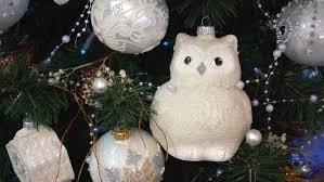 White Owl Christmas Decorations christmas owls waiting for santa two embroidered owls with button
