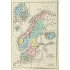 Map Sweden Map Sweden Norway U0026 Denmark 1873 Original Art Antique Maps