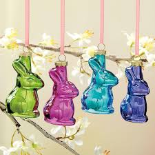 glass bunnies easter ornaments set current catalog