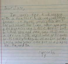 Writing Love Letters To Your Girlfriend Cute Kid Note Of The Day Tyler Apologizes Sort Of Huffpost