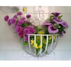 european style garden wrought iron balcony flowerpot holder