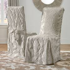 Damask Dining Room Chair Covers Matelasse Damask Arm Dining Room Chair Cover Buy Now