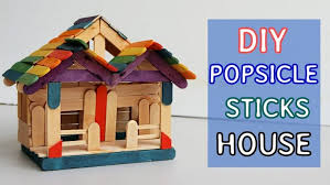 making a house how to make a pop stick house simple craft ideas