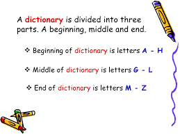 3rd dictionary u0026 guide words