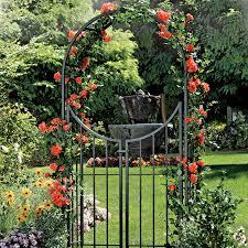 fleur de lis arbor with gate from jackson u0026 perkins