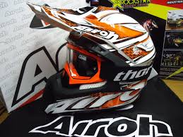 airoh motocross helmet s m l xl new airoh cr 901 linear orange helmet thor goggles