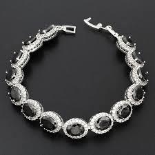 black onyx silver bracelet images Fashion jewelry women bracelets for ladies high quality 925 jpg