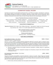 chronological resume template word 2010 elementary teacher 7 free