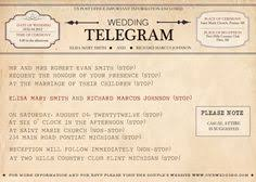 telegram wedding invitation printable vintage telegram save the date wedding invitations