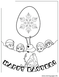 frozen characters happy easter colouring coloring pages printable