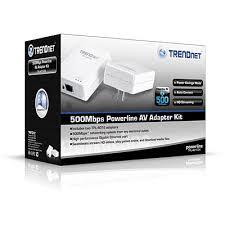 tpl 401e2k powerline 500 av adapter kit trendnet tpl 401e2k