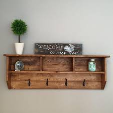 rustic wall mounted coat rack with shelf by willsworkshoppe