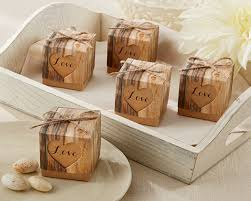wedding favor boxes hearts in rustic favor box set of 24