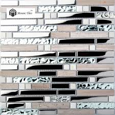 kitchen backsplash tile gray marble silver glass mosaic wholesale