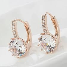 cubic zirconia earrings vintage gold cubic zirconia earrings blown biker