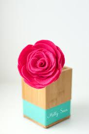 felt flowers how to make felt flowers melly sews