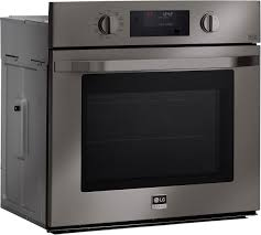 lg studio lsws309bd 30 inch single wall oven in black stainless