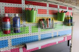 pegboard creation station for kids monthly diy challenge