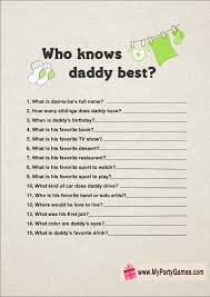Questions For Dad Baby Shower