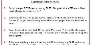 subtraction word problems subtraction word problems classroom secrets