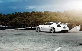 white nissan car nissan 370z tuning nissan car white tuning avtooboi hd wallpaper