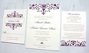 damask wedding invitations damask wedding invitations together with purple