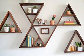 Triangle Shaped Bookcase Wooden Triangle Shelves For Your Modern And Contemporary Interiors
