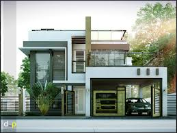2 storey residence with roof deck ideas for the house modern house designs series features a 4 bedroom 2 story house design the ground floor features a 2 car garage dining kitchen and 1 bedroom