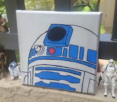 Star Wars Room Decor Etsy by R2d2 Star Wars Canvas Painting