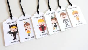halloween gift tags 2x1 5 inches w twine personalized halloween