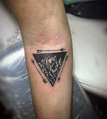 90 triangle tattoo designs for men manly ink ideas