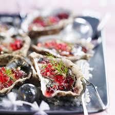 cuisiner les huitres recette huîtres fraîches à la vinaigrette de framboises