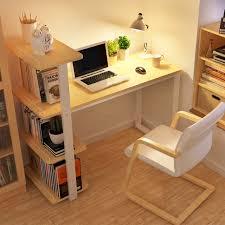 Small Desk With Bookcase Chao Soil Minimalist Modern Home Desktop Computer Desk Combination