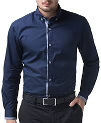 stylish casual smart dress shirt men wrinkle free button https
