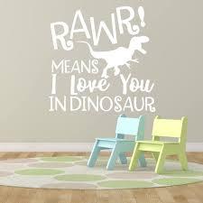 que signifie chambre enfants chambre de bébé sticker cours rawr signifie que je t aime