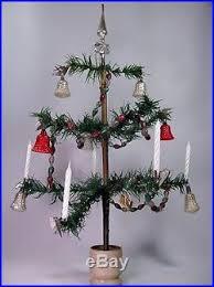 vtg feather tree ornaments glass bell garland bird