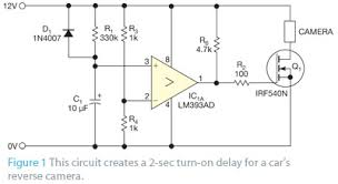 simple circuit helps to protect a vehicle reverse camera edn