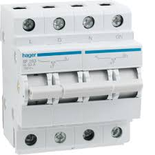 electrical circuit protection hager sf263 changeover
