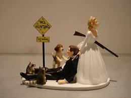cake topper with dog hunt humor groom wedding cake topper dog
