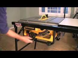 dewalt table saw rip fence extension dewalt raising the blade youtube
